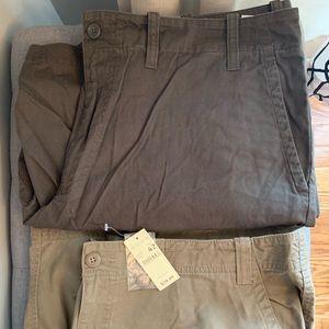 2 pair Eddie Bauer Cargo Shorts